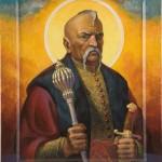 Ікона Святого Петра Калнишевського виконана художником Тарасом Носарем в Донецьку