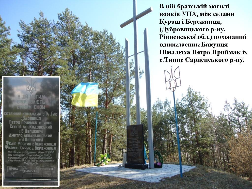 Братська могила вояків УПА, де похований Петро Приймак