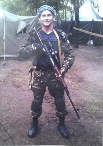 Останнє фото Героя України Станіслава Кулакевича, яке він прислав одній зі своїх сестер ММСкою, за декілька днів до загибелі.