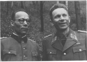 Полковник Андрій Долуд та отаман Тарас Бульба-боровець. 1945 рік